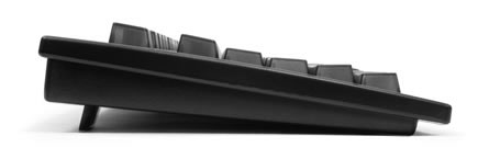 Dvorak keyboard - side view - click for larger image