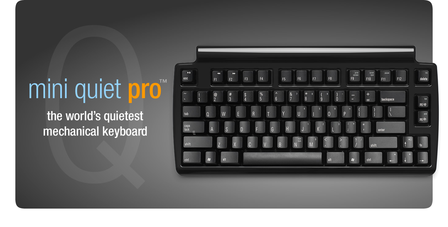 Matias Mini Quiet Pro keyboard for PCs - click for larger images