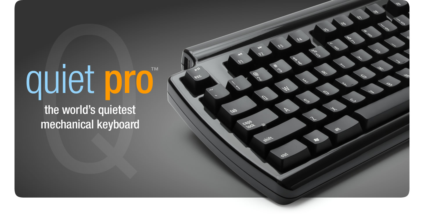 Matias Quiet Pro keyboard for Windows PCs - click for larger images