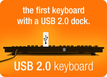 USB 2.0 Keyboard - the only keyboard with a USB 2.0 dock.
