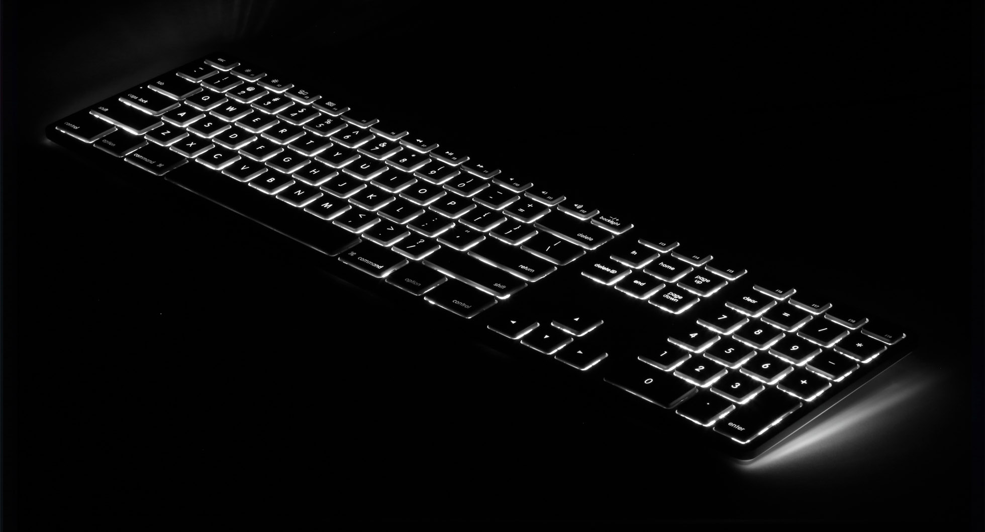 matias black space grey wired aluminium mac keyboard rgb backlit. Black Bedroom Furniture Sets. Home Design Ideas