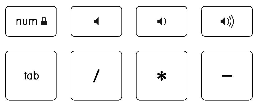 Volume Keys + Numpad Tab
